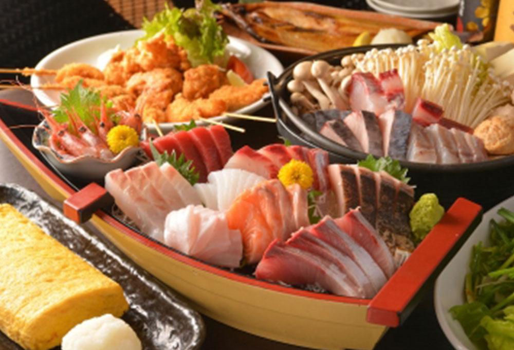 長崎五島と北海道から仕入れる、厳選された食材。