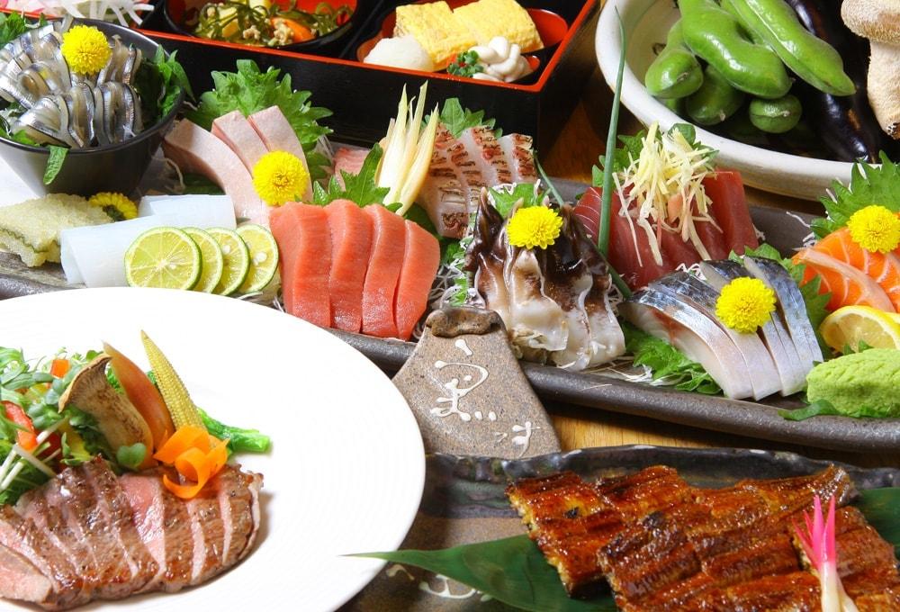 海鮮はもちろん、お肉もこだわりの素材を使用。