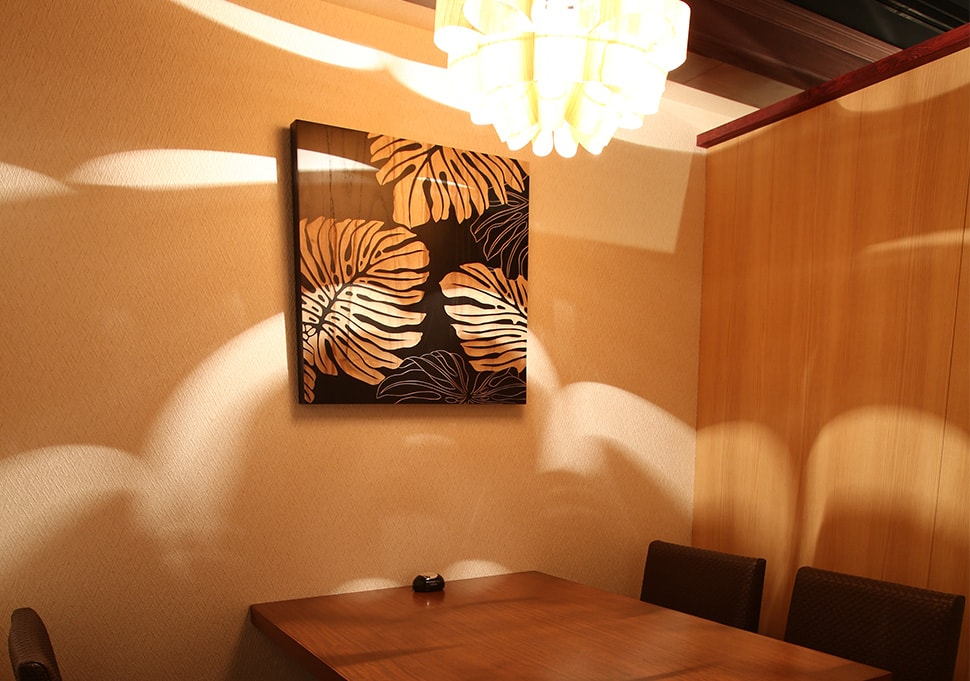ちょっと華やかに雰囲気のある個室