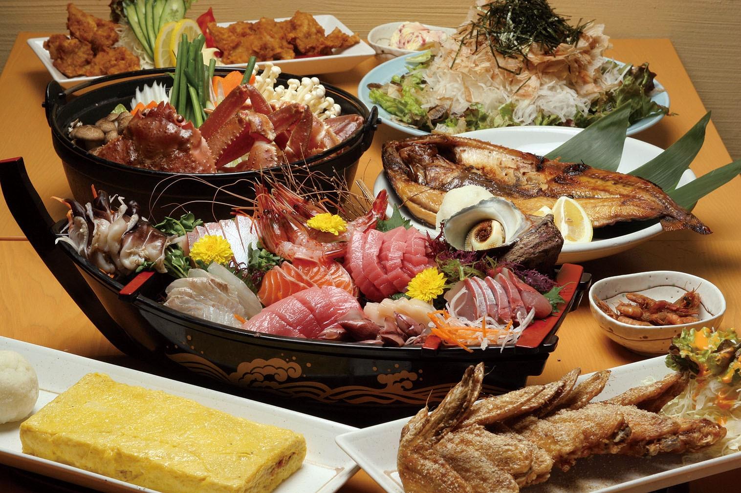 新鮮な海の幸を、様々なお料理でお楽しみください。
